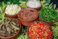 Filipino style salad and bagoong. Philippines Royalty Free Stock Photography