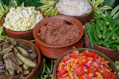 Filipino style salad and bagoong. Philippines Stock Images