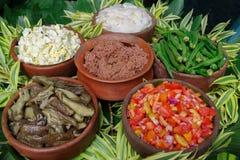 Filipino style salad and bagoong. Philippines Stock Photo