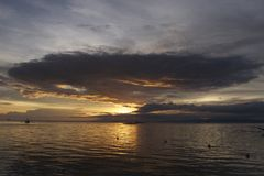 Filipino Sunset off Panglao Island, Philippines Royalty Free Stock Photo