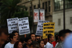 Filipino War Veteran Protest Hollywood 2 Royalty Free Stock Images