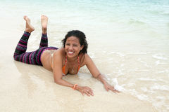 Filipino Woman At The Beach Stock Photography