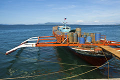 Filipino working boat Royalty Free Stock Photo