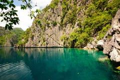 Filipiny Coron wyspa Barracuda jezioro Zdjęcia Royalty Free