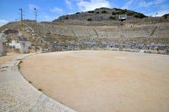 Filippi, teatro antico in Grecia del Nord Fotografia Stock
