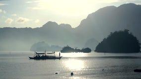 filippijnen Vissersboot bij Zonsopgang