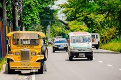 Filippijnse Jeepney-Route Stock Fotografie