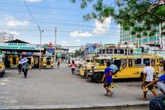 Filippijnse Jeepney-Terminal Stock Afbeelding