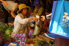 Filippijnse Plantaardige Markt Stock Afbeeldingen