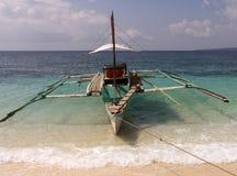 Filippijnse vissersboot 1 stock foto