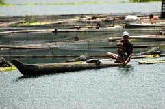 Filippine, Mindanao, Cotabato del sud, lago Sebu immagine stock libera da diritti