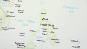 Filippine su una mappa video d archivio