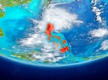 Filippinerna på jordklotet från utrymme Royaltyfri Bild