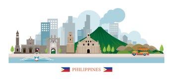 Filippinernagränsmärkehorisont Royaltyfria Bilder