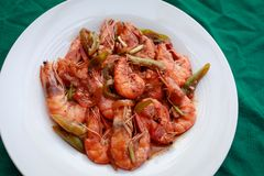 Filippino shrimp dish. Filippino seafood cuisine - shrimp dish Royalty Free Stock Photo