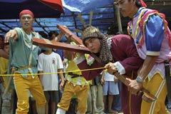 Filippinsk calvary på långfredagen, påsk Arkivfoton