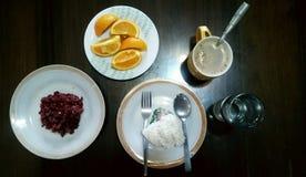 Filippinsk frukost Arkivfoto