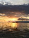 Filippinsk solnedgång på den Panglao ön Royaltyfria Foton