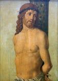 Filippo Mazzola: Het teisteren bij de Pijler en het Bekronen van Doornen stock foto's