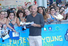 Filippo Nigro al Giffoni Film Festival 2013 royalty-vrije stock fotografie