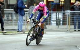 Filippo Pozzato Team Lampre - Μέριντα Στοκ Εικόνα