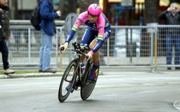 Filippo Pozzato Team Lampre - Merida Stock Image