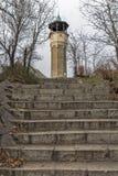 FILIPPOPOLI, BULGARIA - 30 DICEMBRE 2016: Costruzione medievale della torre di orologio in città di Filippopoli Immagini Stock Libere da Diritti