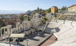 FILIPPOPOLI, BULGARIA - 9 NOVEMBRE 2015: rovine del teatro antico Fotografie Stock