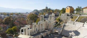 FILIPPOPOLI, BULGARIA - 9 NOVEMBRE 2015: rovine del teatro antico Immagini Stock