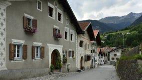 Filisur, cantone di Graubunden, Svizzera Fotografia Stock Libera da Diritti