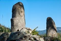Filitosa, oude archeologische plaats in Corsica stock foto's