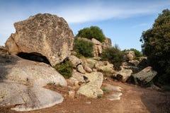 Filitosa, site mégalithique en île de Corse Photo libre de droits