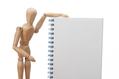 Fill it. Dummy showing an empty notebook for filling it Stock Images
