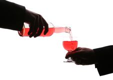 Fill alcohol Stock Images