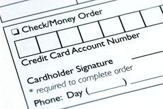 Fill in the credit card information royalty free stock photos