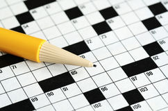 Fill the cross word puzzle Royalty Free Stock Images
