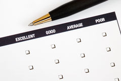 Fill in the feedback survey Royalty Free Stock Photo