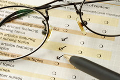 Fill in the feedback survey Stock Image