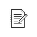 Fill in form line icon, outline vector sign. Linear style pictogram isolated on white. Edit symbol, logo illustration. Editable stroke. Pixel perfect Stock Photos