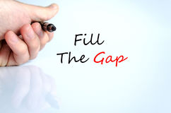 Fill the gap text concept Stock Photography