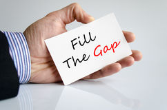 Fill the gap text concept Royalty Free Stock Images