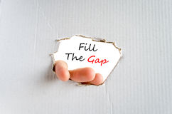 Fill the gap text concept Stock Images