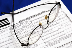 Fill the health insurance claim form Royalty Free Stock Photo