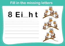 Fill in the missing letters Stock Images