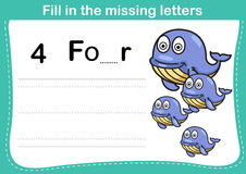 Fill in the missing letters. Illustration, vector Royalty Free Stock Images