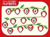 Fill in the missing number. Illustration vector illustration