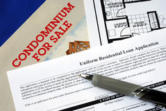 Fill in the mortgage application Royalty Free Stock Image