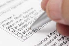 Fill out Financial Form Stock Image