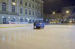 Fill rink in the center of Lvov Stock Photos