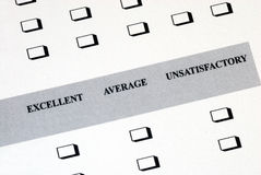 Fill in the satisfaction survey Royalty Free Stock Image